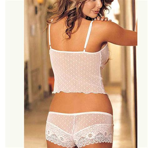 Two Pieces By Domiadream 2139 two snowflake lace pattern cami set steunk