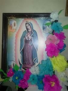 Flores, De, Papel, Crepe, Para, La, Virgen, De, Guadalupe