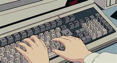 Anime Aesthetic Typing Retro Gifs Bnha Computer