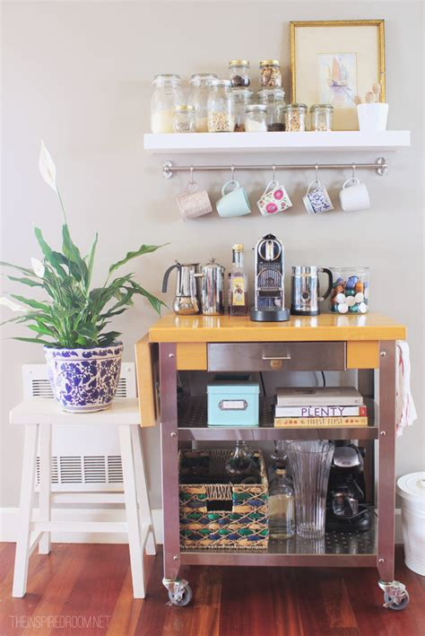 townhouse update coffee cart the inspired room home ideas