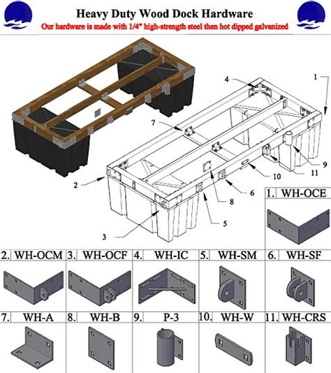 Free Floating Boat Dock Plans by Wood Marne Dock Plan Kits