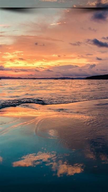 Wallpapers Sunset Beach 4k Ocean Sky Mobile