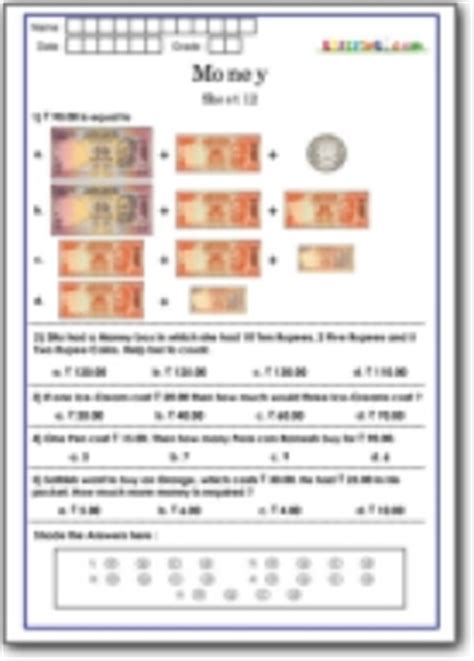 indian money worksheets for class 4 math money worksheets practice for math olympiad class 1