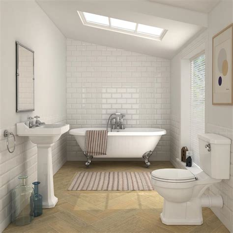 carlton traditional double ended freestanding bath suite