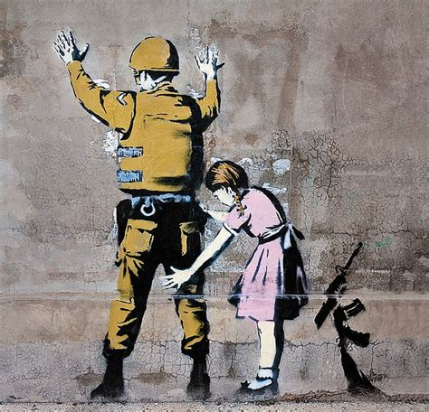 Girl and Soldier Banksy Meaning