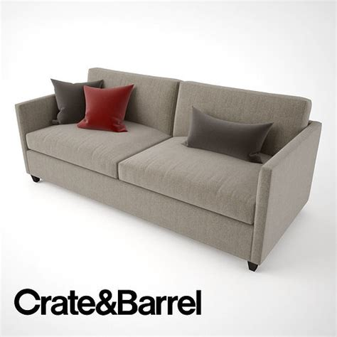 Crate And Barrel Apartment Sofa by 3d Crate And Barrel Dryden Apartment Sofa Cgtrader