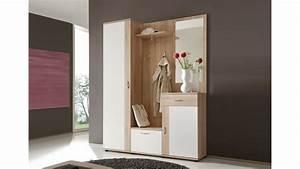 Garderobe Sonoma Eiche Weiß : garderobe patent spiegel sonoma eiche und wei 3 teilig ~ Bigdaddyawards.com Haus und Dekorationen