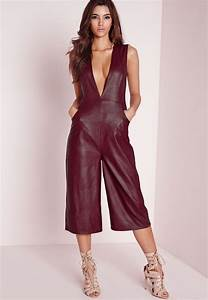 Designer Overalls Womens Women Jumpsuit Rompers Genuine Lambskin Real Leather