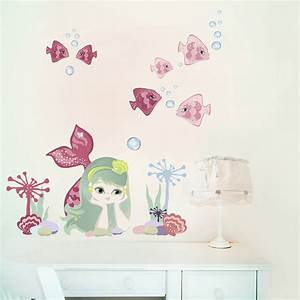 mermaid fabric wall stickers by chocovenyl With mermaid wall decals