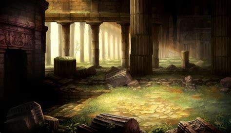 ruined pillars characters art dragons crown