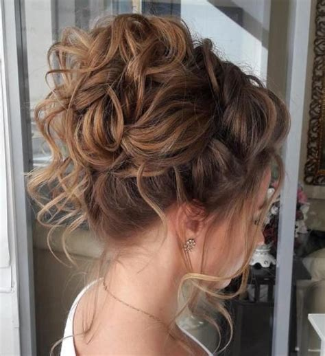 Curl Updo Hairstyles by 40 Creative Updos For Curly Hair In 2019 Hairstyles