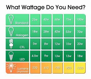 Bulb Wattage Conversion Chart Understanding Display Case Led Lighting Terminology