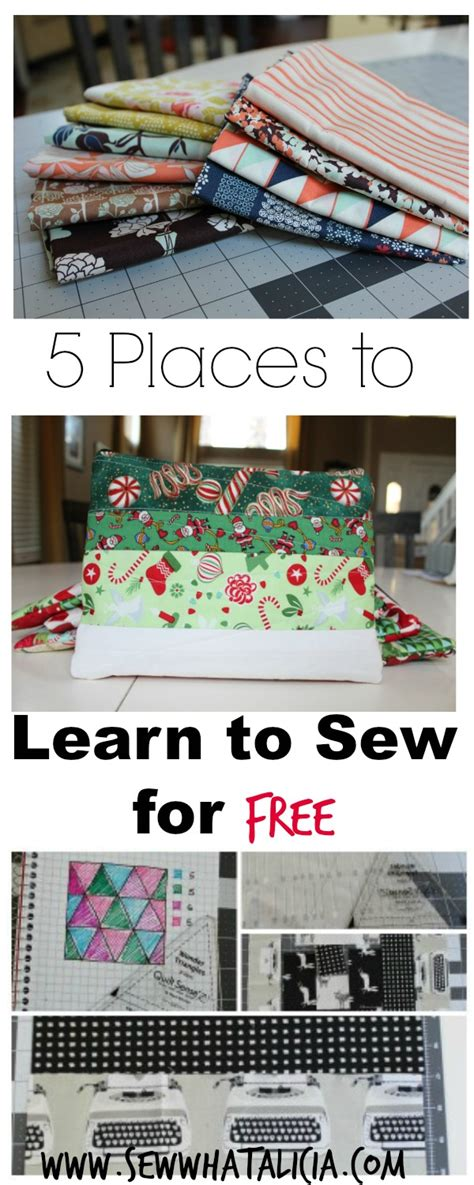 5 places to learn to sew for free sew what