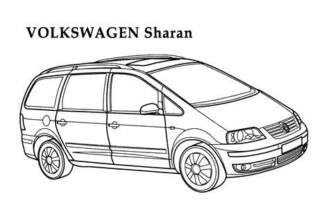 volkswagen coloring pages    print