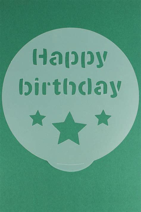 cake decorating stencils present shooting star  happy birthday