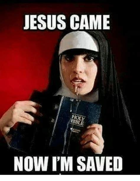 Holy Jesus Meme - jesus came holy bible now i m saved jesus meme on esmemes com