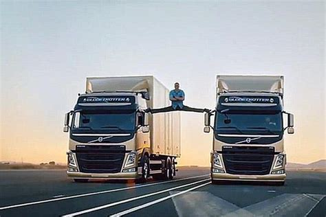 viral volvo commercialvan damme splits   moving