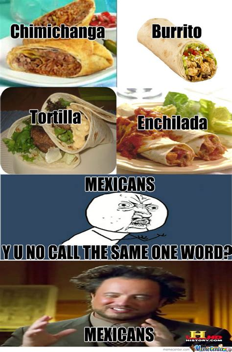 Mexican Food Memes - mexican food by johnjohn92 meme center
