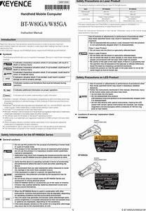 Keyence 1395b Handheld Mobile Computer User Manual Users