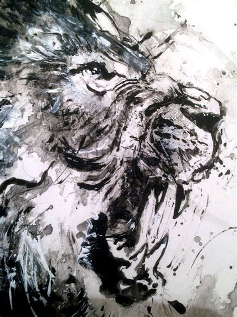 Abstract Black And White Watercolor Painting by Original Acrylic Painting Black And White By