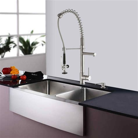 Black Kitchen Faucet With Soap Dispenser   farmlandcanada.info
