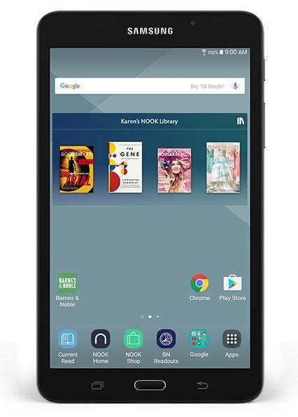 barnes and noble tablet samsung galaxy tab a nook 7 quot by barnes noble