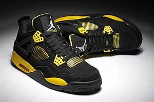 Jordan Chart Of Shoes Air Jordan 4 Black Yellow Suede Price 75 39 Air