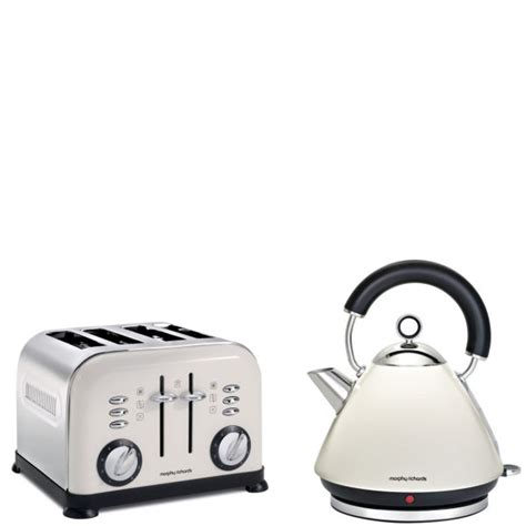 morphy richards toaster and kettle morphy richards 4 slice accents toaster white and