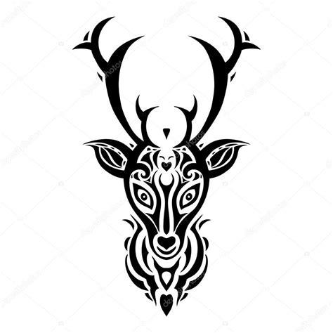 Tete De Cerf Tatouage T 234 Te De Cerf Style De Tatouage Polyn 233 Sien Image Vectorielle Katyaulitina 169 84747922