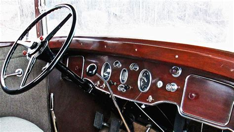 1931 Packard Restored Dashboard & Steering Wheel
