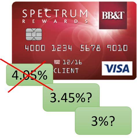 """Cautions Regarding The """"405%"""" Bb&t Spectrum Rewards Visa"""