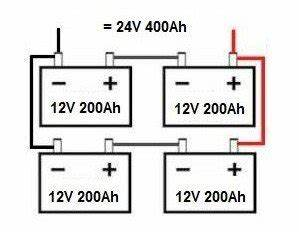 how to connect batteries in series and parallel if you With 24 volt solar panel wiring series