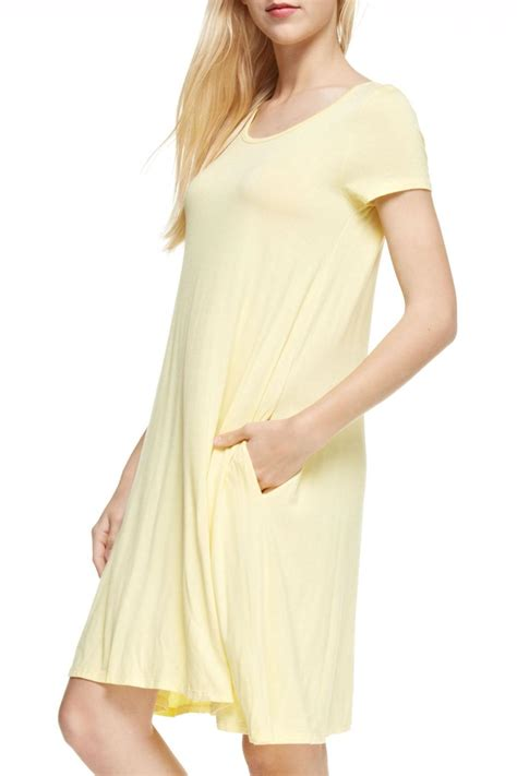 Reborn J Yellow T-Shirt Dress from Georgia by Wild Souls u2014 Shoptiques