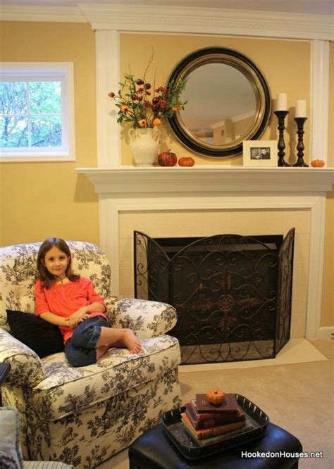 fireplace mantel mirror decorating ideas how to decorate for fall in 3 easy steps mantle ideas round mirrors and mantles