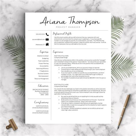 11187 creative marketing resume templates creative resume template for word and pages modern 1 3 page
