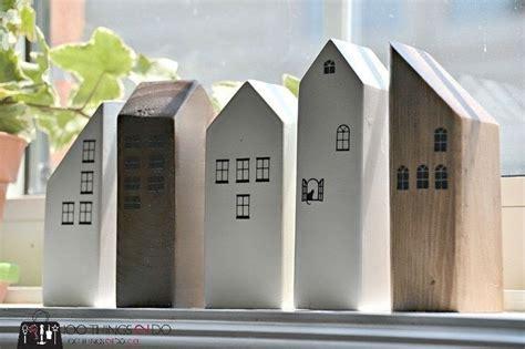 scrap wood row houses   sculpt  wood model home