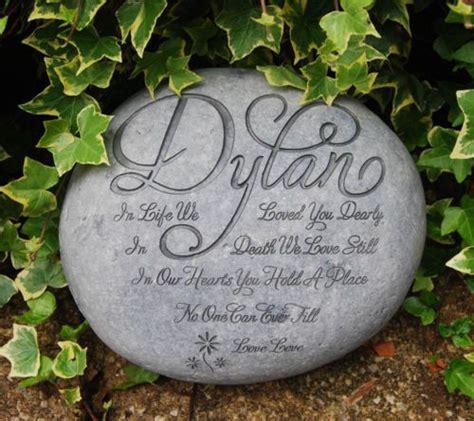 personalised memorial stone human grave markergarden