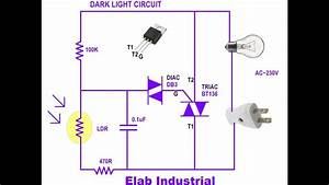 How To Make A Dark Light Circuit Using Triac Very Easy