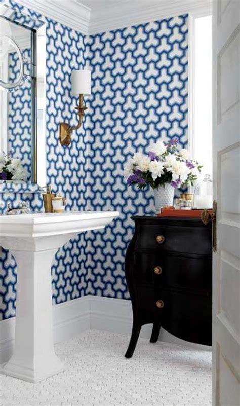 15 Stunning Bathroom Wallpaper Design Ideas
