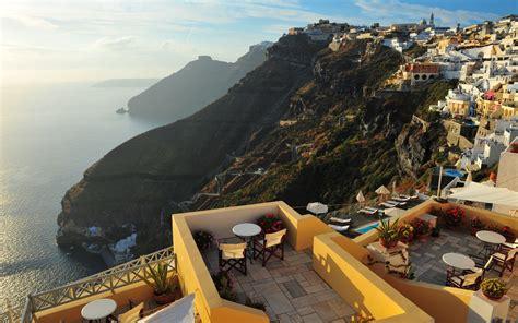 Greece Santorini Places Cities Town Architecture Buildings