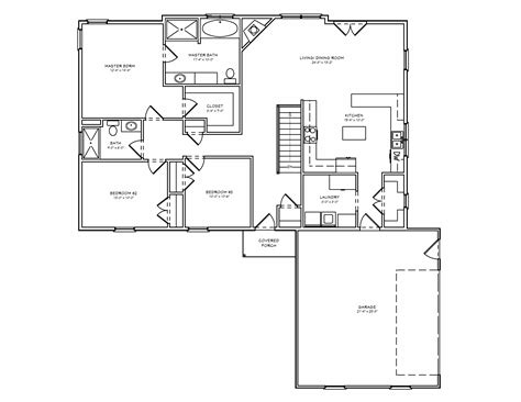 single floor plans single level house designs single level ranch house plans