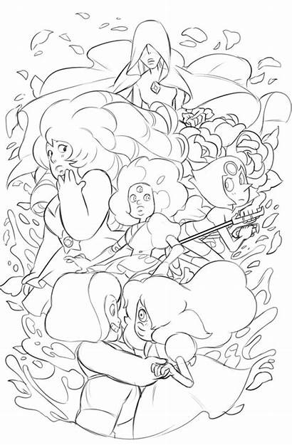 Coloring Universe Steven Pages Sheets Gems Answer