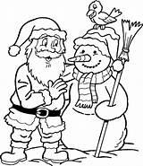 Leuk Kerstman Voor Een Sneeuwpop Kleurplaat Leukvoorkids Afkomstig Kleurplaten sketch template