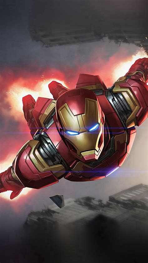ironman hero marvel illustration art iphone  wallpaper