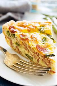 ASPARAGUS BACON QUICHE - A Dash of Sanity