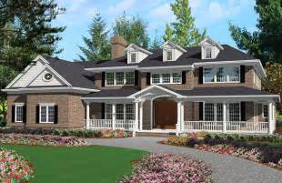 Colonial Home Plans Grand Colonial 3100 5 Bedrooms And 4 Baths The House Designers