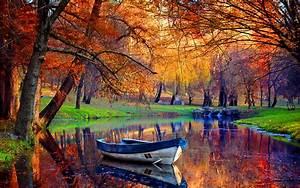 September Autumn River Wallpaper for Widescreen Desktop PC ...