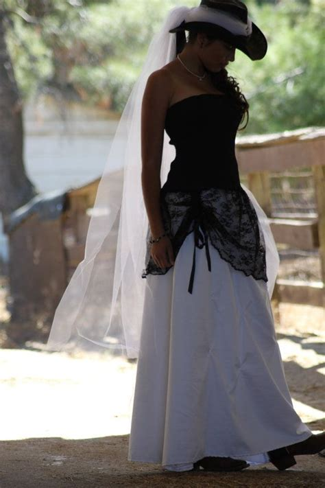 love  cowgirl country wedding gown  black