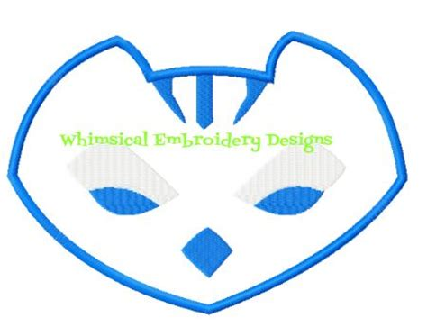 catboy pj masks logo wwwwhimsicalembroiderydesignscom