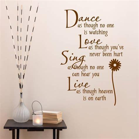 Get love dance sing live wall decor today w/ drive up or pick up. dance love sing live wall sticker by mirrorin | notonthehighstreet.com